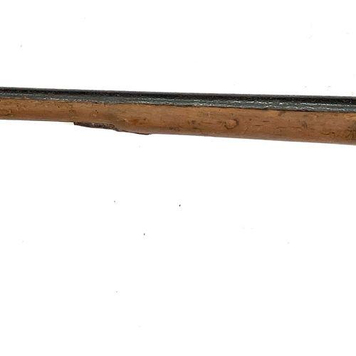 Fusil de chasse mono canon, platine à silex transformée percussion, canon de 90 …