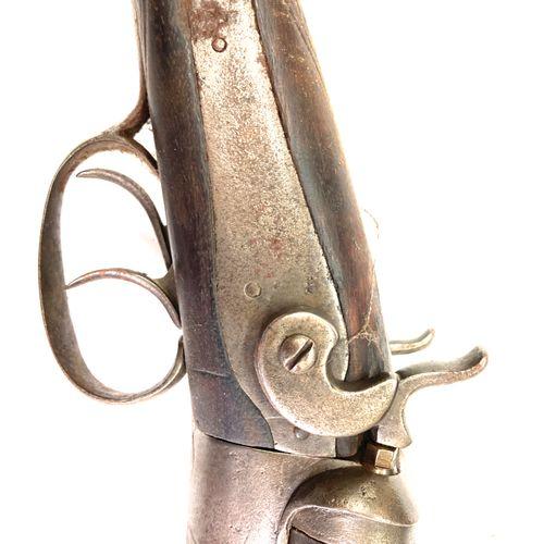 Fusil de chasse à percussion centrale par chiens extérieurs, canons en table de …
