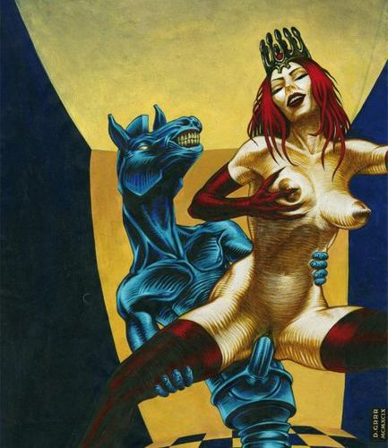 Denis GRRR (born in 1966). Jeu de Dame and Le Cheval prend la reine, 1999. 2 acr…