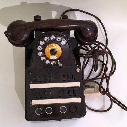 TELEPHONY. WALL PHONE. Northern Electric, in black bakelite, Canada, circa 1950.…