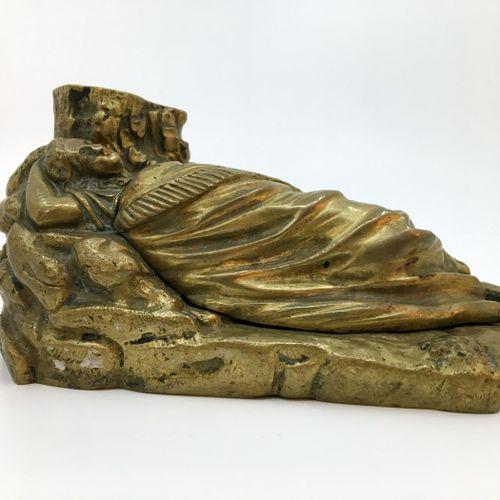 [Unidentified Artist] La Dormeuse du val, late 19th century. Bronze inkwell, com…