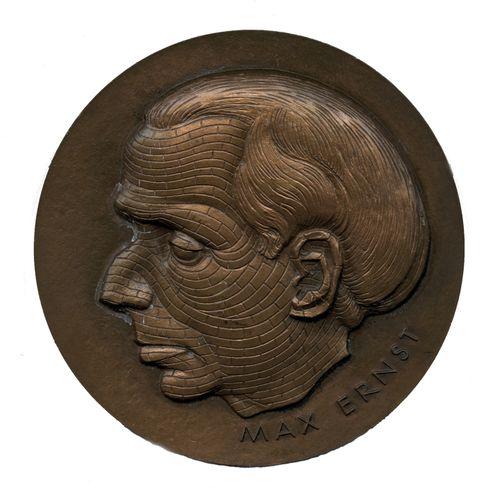 Hans BELLMER, after (1902 1975). Max Ernst, 1973. Copper medal of the Monnaie de…