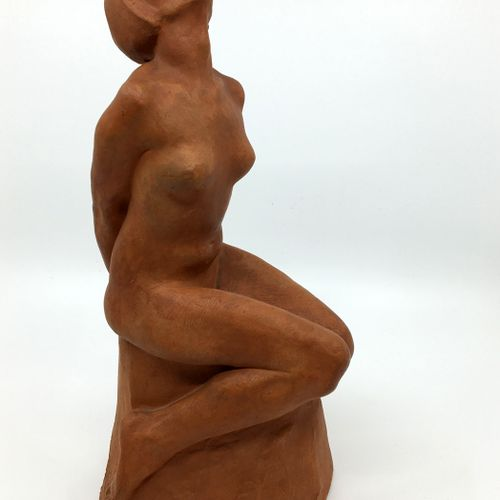 Maurice JANSEGERS (1903 1989). La Soumise, circa 1950. Terracotta, 24 cm. Signed…