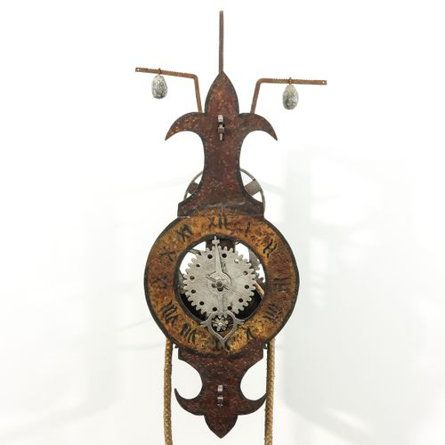 Wall clock France, 15th century, used by the monks to ring the bell, height 56 ?…