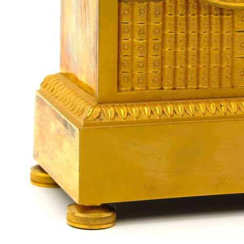 French Pendule model Bibliotheque, ormolu, signed Dubois, France, ca.1820, heigh…