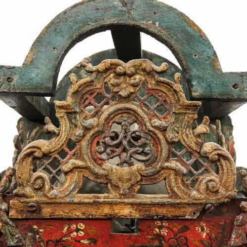 A Dutch Wall Clock 2 hands, Twente, t.A. Bakker or Ter Swaek, height 77 cm.