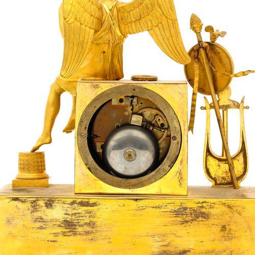 Empire Pendule Empire period, ca.1810, ormolu, representation of a Greek god, he…