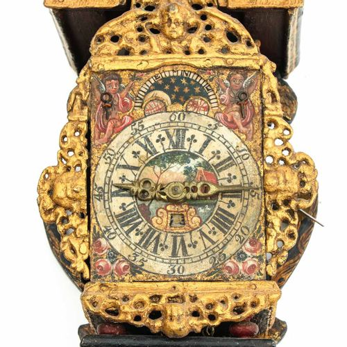 Freisland Wall Clock Friesland, with moon and date display, 18th century, height…