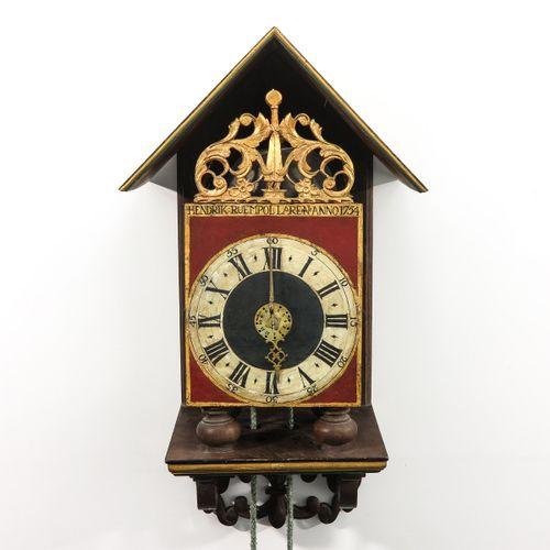 A Dutch Wall Clock signed Hendrik Ruempol Laren 1754, height of the clock is 37 …