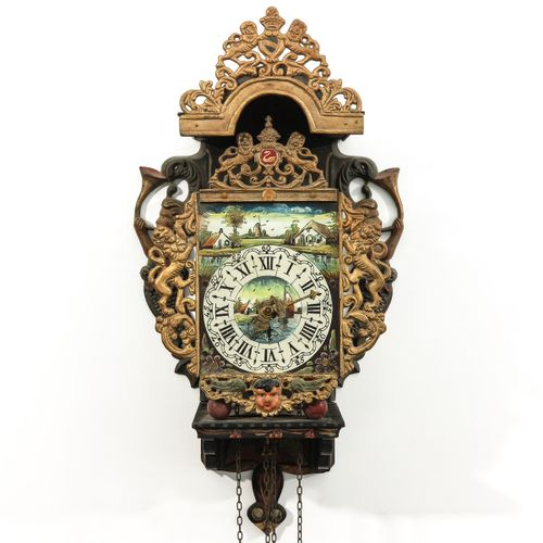 Dutch Wall Clock Small size, height 52 cm.