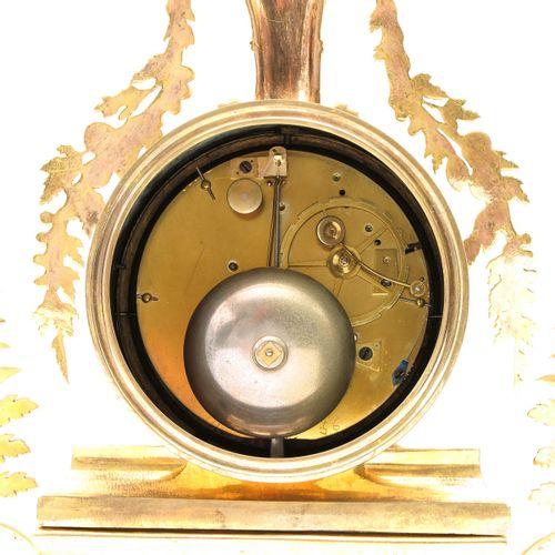 Pendule a la Corbeille Fleuri design J.S. Deverberie, ca.1790, ormolu with ename…