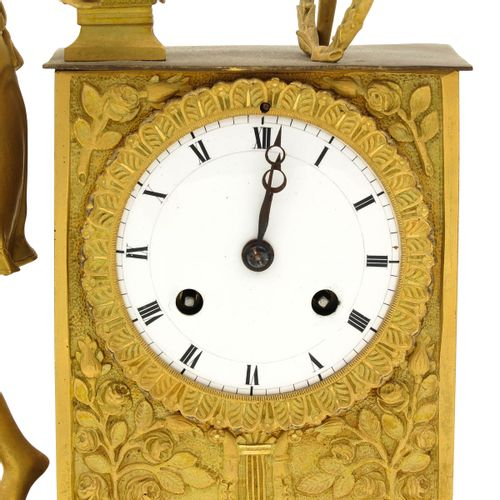 A French Pendule 19th century, ormolu, height 44 cm.