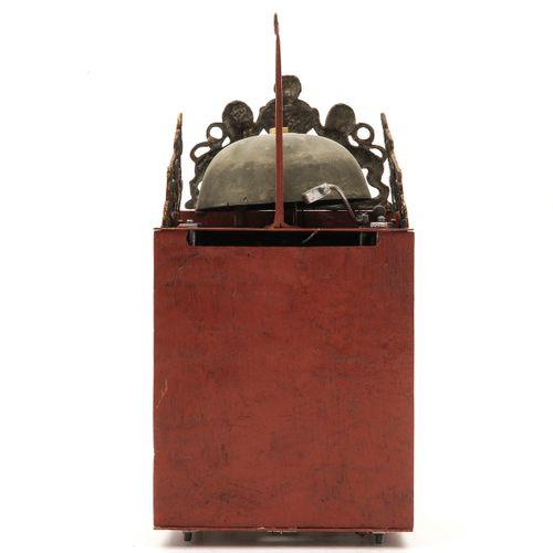 A Hendrik Ruempol Wall Clock signed Hendrik Ruempol Laren 1754, height 35 cm.