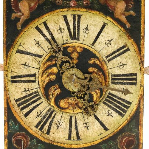 A Dutch Wall Clock West Friesland, with 2 hands, beautiful painting on the dial,…