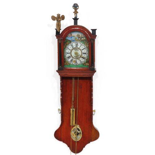 A Dutch Wall Clock or Staartklok Friesland, 19th century, length 115 cm.