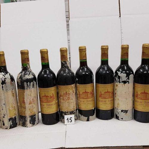 12 bouteilles château FONREAUD 1975 Listrac 6 Etiquettes avec papier de soie col…