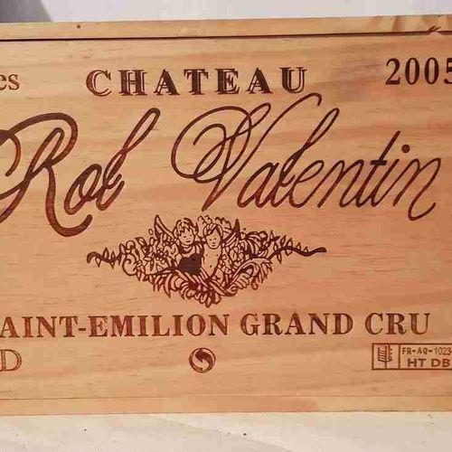 6 bouteilles château ROL VALENTIN 2005 SAINT EMILION GCC. CBO. Stockage parfait.