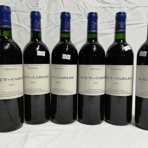 6 Bouteilles Château HAUT CARLES 2003 FRONSAC