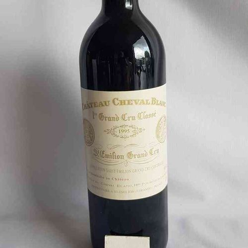 1 bouteille château CHEVAL BLANC 1995.1° GCC SAINT EMILION. Présentation parfait…