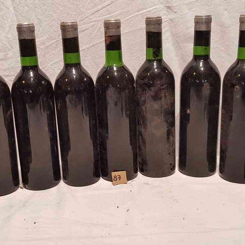 10 bouteilles château SIRAN 1967 MARGAUX. Sans étiquettes. Bouchon visible avec …