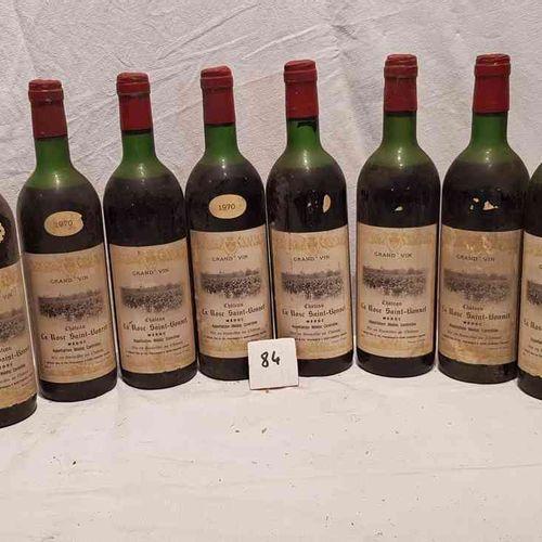 11 bouteilles château LA ROSE SAINT BONNET 1970 MEDOC. Etiquettes 8 sans millési…