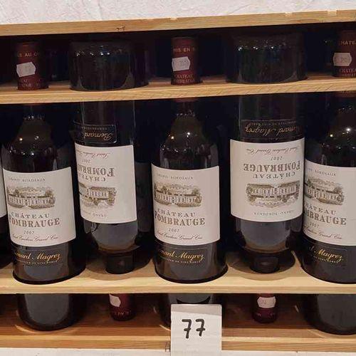 12 bouteilles château FOMBRAUGE 2007 SAINT EMILION GRAND CRU. Dans sa CBO, prése…