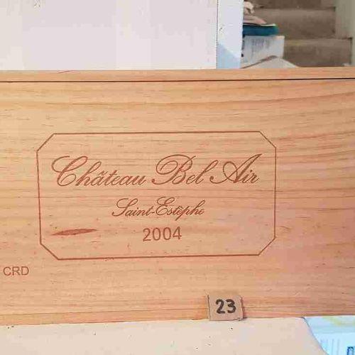 24 1/2 bouteilles château BEL AIR 2004 SAINT ESTEPHE. CBO. Stockage parfait.