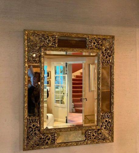 Miroir rectangulaire à parcloses dans le style du XVIIe siècle | XXe siècle Bois…