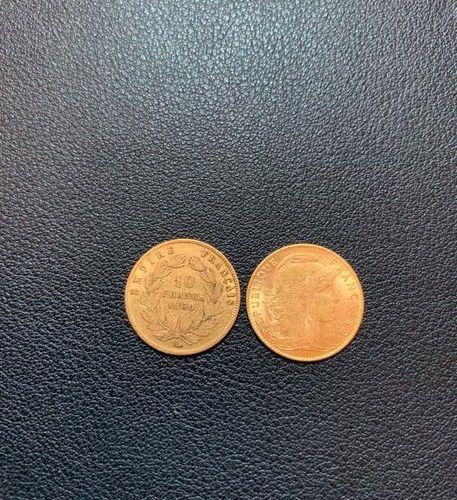 Lot de deux pièces de 10 francs | France, époque second empire et IIIe républiqu…