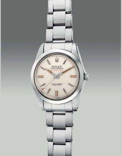 ROLEX Une jolie et rare montre bracelet antimagnétique en acier inoxydable avec …