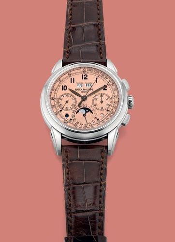 PATEK PHILIPPE A highly attractive and important platinum perpetual calendar chr…