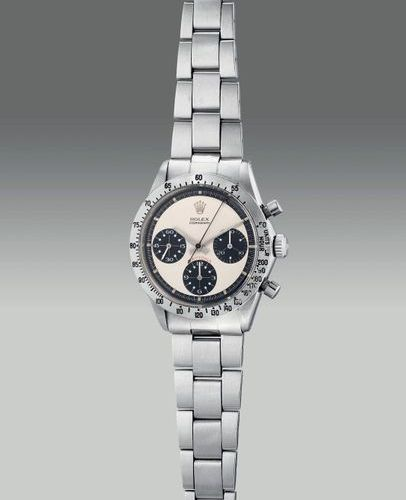 ROLEX A very fine, attractive and rare stainless steel chronograph wristwatch wi…