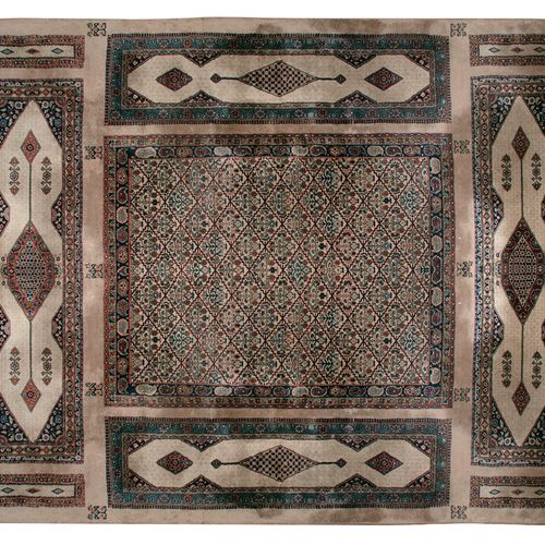 AN UNUSUAL CAUCASIAN COMBINATION DESIGN CARPET, mid 20th century, woven with a m…