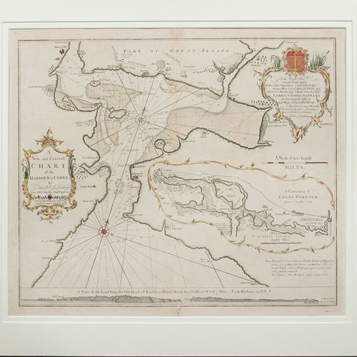REV. J LINDSEY A New and Correct Chart of the Harbour of Cork Engraving, 46 x 54…