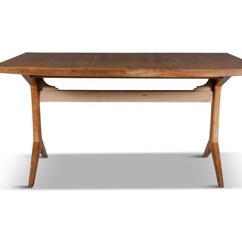 BRENDAN DUNNE (1916 1995) A teak extending dining table with four beech framed r…