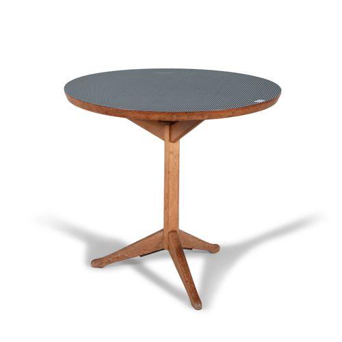 BRENDAN DUNNE (1916 1995) A modern Irish beech circular table with black and whi…
