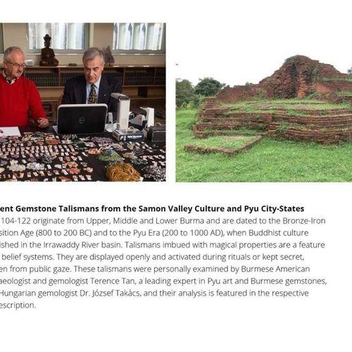 A RARE SAMON VALLEY OR EARLY PYU ROCK CRYSTAL 'DEITY' TALISMAN Samon Valley Cult…