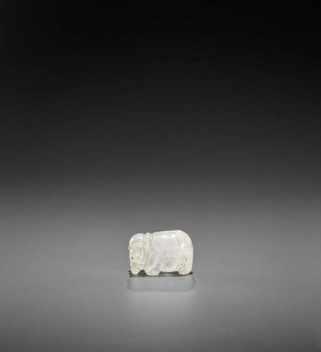 A PYU ROCK CRYSTAL 'ELEPHANT' TALISMAN Pyu city states, 2nd 10th century. The tr…