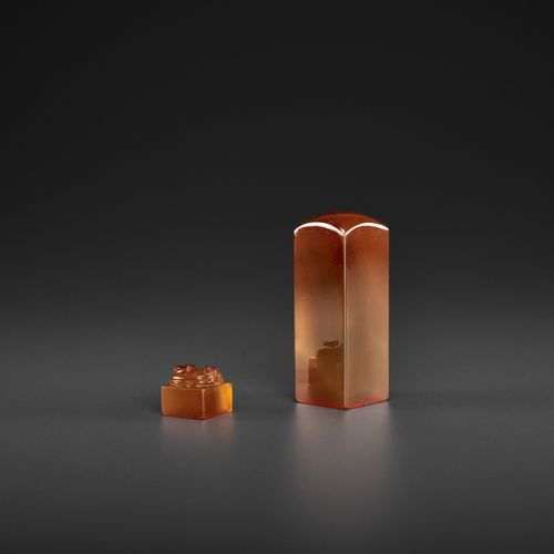 TWO CHALCEDONY SEALS, MID QING TO REPUBLIC China, late 18 th to early 20 th cent…