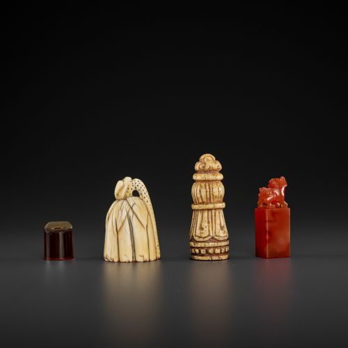 A LOT OF FOUR SEALS, QING DYNASTY TO REPUBLIC PERIOD China, 17 th century (the i…