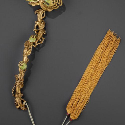 A CHAMPLEVÉ ENAMEL 'BUDDHA'S HAND' RUYI SCEPTER, QING DYNASTY China, 18 th centu…