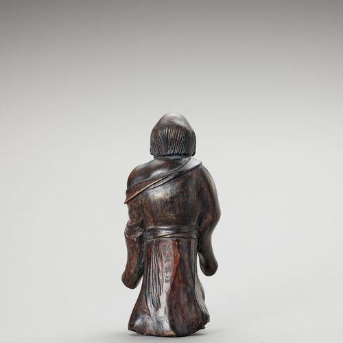 MATSUMOTO FUSHO: A LACQUERED WOOD OKIMONO OF GAMA SENNIN MATSUMOTO FUSHO: A LACQ…
