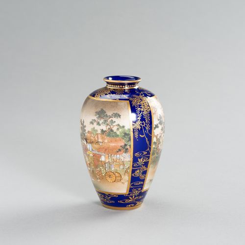 TWO SATSUMA CERAMIC VASES TWO SATSUMA CERAMIC VASES Japan, Meiji period (1868 19…