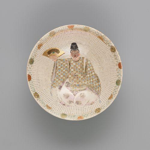 A SATSUMA BOWL WITH A NOH ACTOR A SATSUMA BOWL WITH A NOH ACTOR Japan, Meiji per…