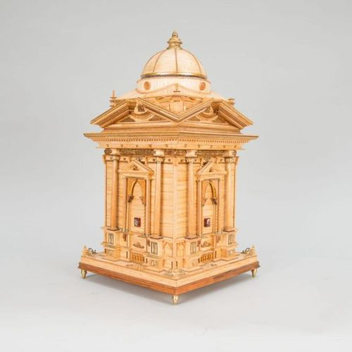 Architectural model Architectural model of a Florentine Renaissance tower, wood …