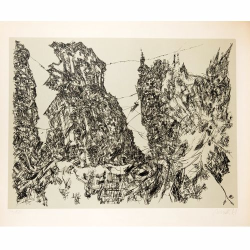 Roman Scheidl (born 1949) graphic Roman Scheidl (born 1949) graphic, composition…