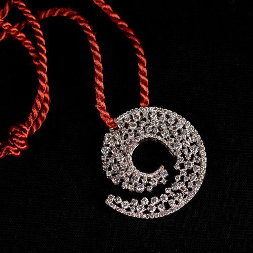 Pendentif en or blanc 750 ,avec 34 Diamants de 5,09 carat