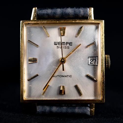 Montre en or jaune 18k, automatique, par Wempe, Suisse ; avec calendrier ; en br…