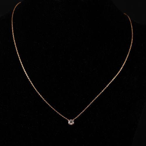 Collier en or 18 carats avec un diamant de 0,35 carat