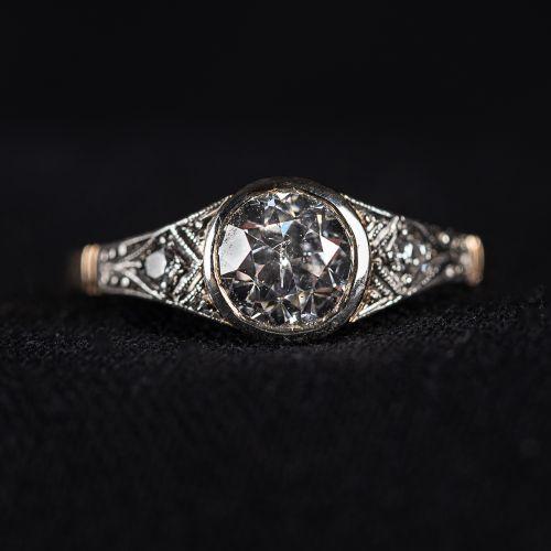 Bague en or 585 , avec diamant 1,1 carat, poids 2,6 grammes